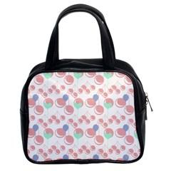 Bubblegum Cherry White Classic Handbags (2 Sides) by snowwhitegirl