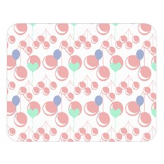 Bubblegum Cherry White Double Sided Flano Blanket (large)  by snowwhitegirl