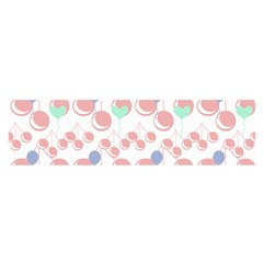 Bubblegum Cherry White Satin Scarf (oblong) by snowwhitegirl