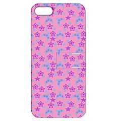 Pink Star Blue Hats Apple Iphone 5 Hardshell Case With Stand by snowwhitegirl