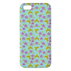 Blue Star Yellow Hats Apple Iphone 5 Premium Hardshell Case by snowwhitegirl