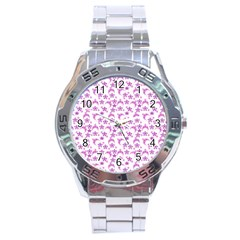 Violet Winter Hats Stainless Steel Analogue Watch by snowwhitegirl