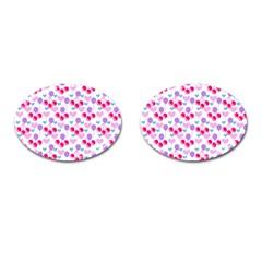 Pastel Cherries Cufflinks (oval) by snowwhitegirl