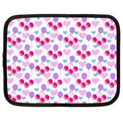 Pastel Cherries Netbook Case (xxl)  by snowwhitegirl
