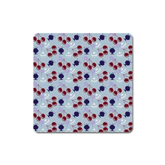 Sky Cherry Square Magnet