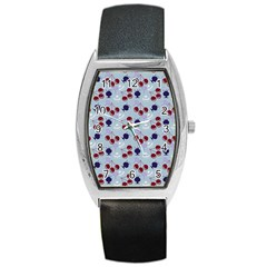 Sky Cherry Barrel Style Metal Watch by snowwhitegirl