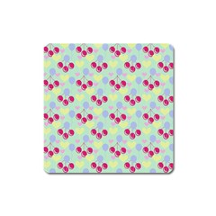 Birthday Cherries Square Magnet