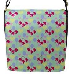 Birthday Cherries Flap Messenger Bag (s) by snowwhitegirl