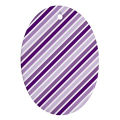 Violet Stripes Oval Ornament (two Sides) by snowwhitegirl