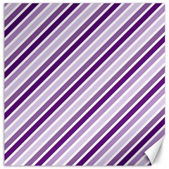 Violet Stripes Canvas 16  X 16   by snowwhitegirl