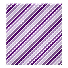 Violet Stripes Shower Curtain 66  X 72  (large)  by snowwhitegirl