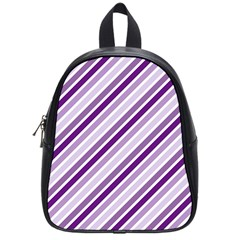 Violet Stripes School Bag (small) by snowwhitegirl
