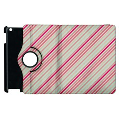Candy Diagonal Lines Apple Ipad 3/4 Flip 360 Case by snowwhitegirl