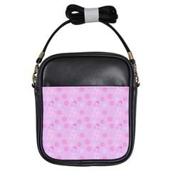 Lilac Dress Girls Sling Bags by snowwhitegirl