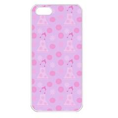 Lilac Dress Apple Iphone 5 Seamless Case (white) by snowwhitegirl
