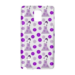 Lilac Dress On White Samsung Galaxy Note 4 Hardshell Case by snowwhitegirl