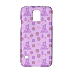 Violet Pink Flower Dress Samsung Galaxy S5 Hardshell Case  by snowwhitegirl