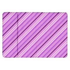 Violet Diagonal Lines Samsung Galaxy Tab 8 9  P7300 Flip Case by snowwhitegirl