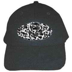 Grey Camo Black Cap