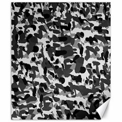 Grey Camo Canvas 20  X 24   by snowwhitegirl