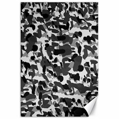 Grey Camo Canvas 20  X 30   by snowwhitegirl