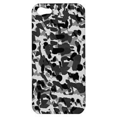 Grey Camo Apple Iphone 5 Hardshell Case by snowwhitegirl