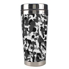 Grey Camo Stainless Steel Travel Tumblers by snowwhitegirl