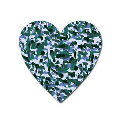 Blue Camo Heart Magnet