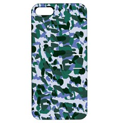 Blue Camo Apple Iphone 5 Hardshell Case With Stand by snowwhitegirl