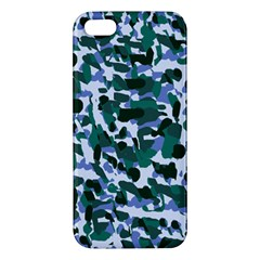 Blue Camo Apple Iphone 5 Premium Hardshell Case by snowwhitegirl