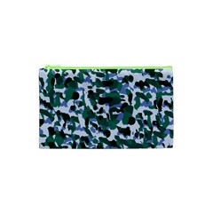 Blue Camo Cosmetic Bag (xs) by snowwhitegirl