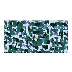 Blue Camo Satin Wrap by snowwhitegirl