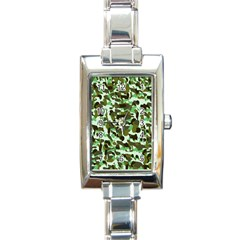 Brownish Green Camo Rectangle Italian Charm Watch by snowwhitegirl