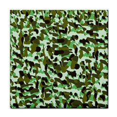 Brownish Green Camo Tile Coasters by snowwhitegirl