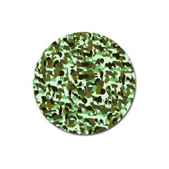 Brownish Green Camo Magnet 3  (round) by snowwhitegirl