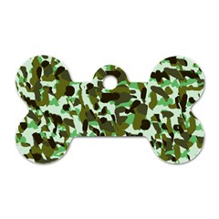 Brownish Green Camo Dog Tag Bone (two Sides) by snowwhitegirl