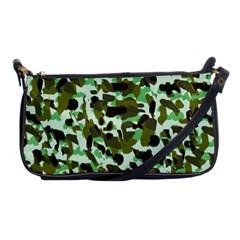 Brownish Green Camo Shoulder Clutch Bags by snowwhitegirl