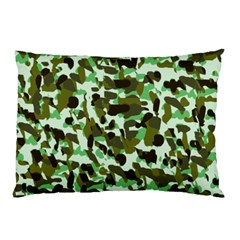 Brownish Green Camo Pillow Case (two Sides) by snowwhitegirl