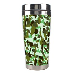 Brownish Green Camo Stainless Steel Travel Tumblers by snowwhitegirl
