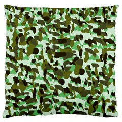 Brownish Green Camo Large Flano Cushion Case (one Side) by snowwhitegirl