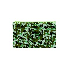 Brownish Green Camo Cosmetic Bag (xs) by snowwhitegirl