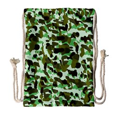 Brownish Green Camo Drawstring Bag (large) by snowwhitegirl
