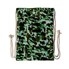 Brownish Green Camo Drawstring Bag (small) by snowwhitegirl