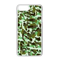 Brownish Green Camo Apple Iphone 8 Plus Seamless Case (white) by snowwhitegirl