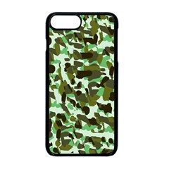 Brownish Green Camo Apple Iphone 8 Plus Seamless Case (black) by snowwhitegirl