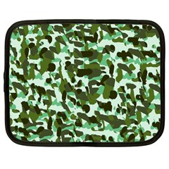 Green Camo Netbook Case (large) by snowwhitegirl