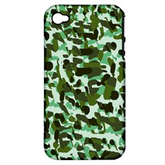 Green Camo Apple Iphone 4/4s Hardshell Case (pc+silicone) by snowwhitegirl