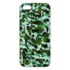 Green Camo Apple Iphone 5 Premium Hardshell Case by snowwhitegirl