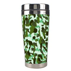 Green Camo Stainless Steel Travel Tumblers by snowwhitegirl