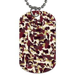 Red Camo Dog Tag (one Side)